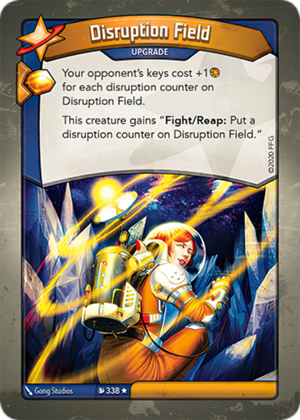 Disruption Field, a KeyForge card illustrated by Gong Studios
