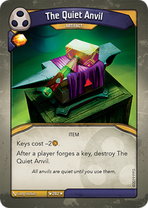 The Quiet Anvil, a KeyForge card illustrated by Gong Studios