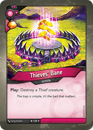 Thieves' Bane, a KeyForge card illustrated by Gong Studios