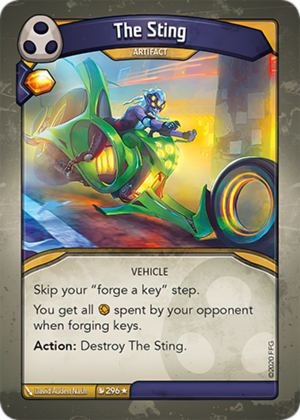 The Sting, a KeyForge card illustrated by David Auden Nash