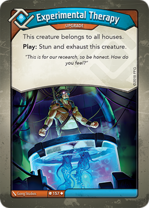 Experimental Therapy, a KeyForge card illustrated by Gong Studios