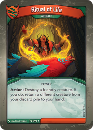 Ritual of Life, a KeyForge card illustrated by David Auden Nash